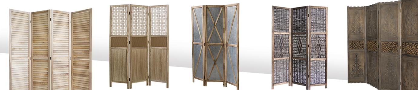 Paravent Raumteiler Trennwand Sichtschutz Spanische Wand Shoji braun 4teilig