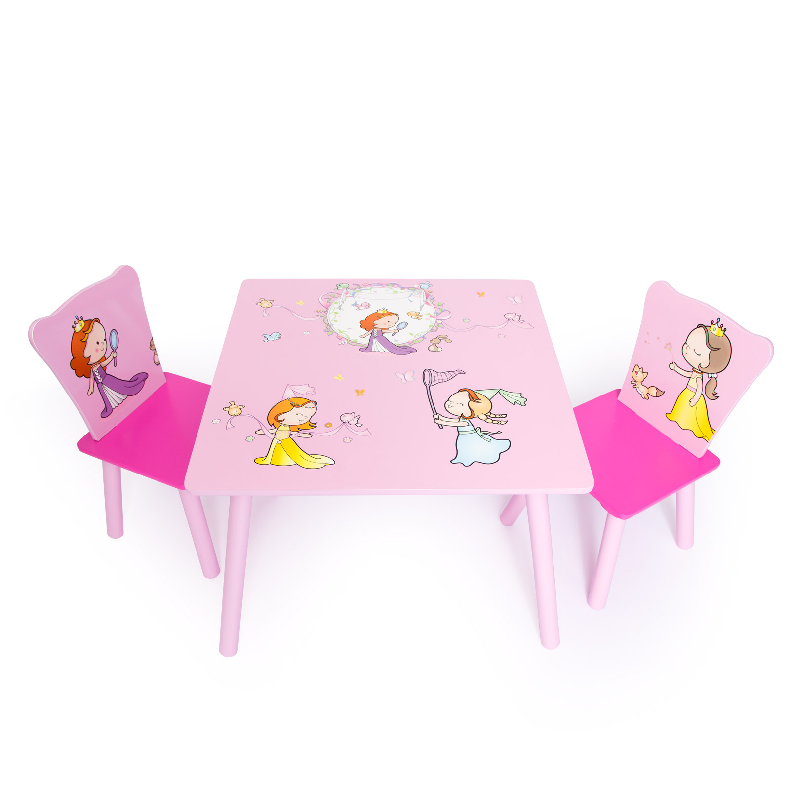 1059e51bed1e Childrens Kids 1 table and 2 chairs Stools Furniture Set New Princess