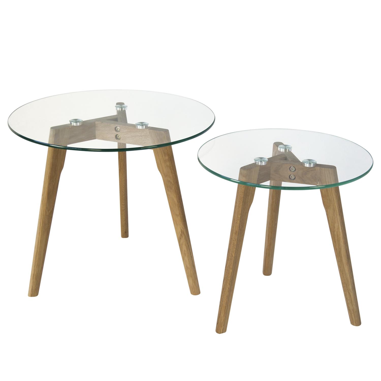 Beistelltisch Couchtisch Holz Tisch Nachttisch rund 44 x 39,5 x 39,5 cm schwarz