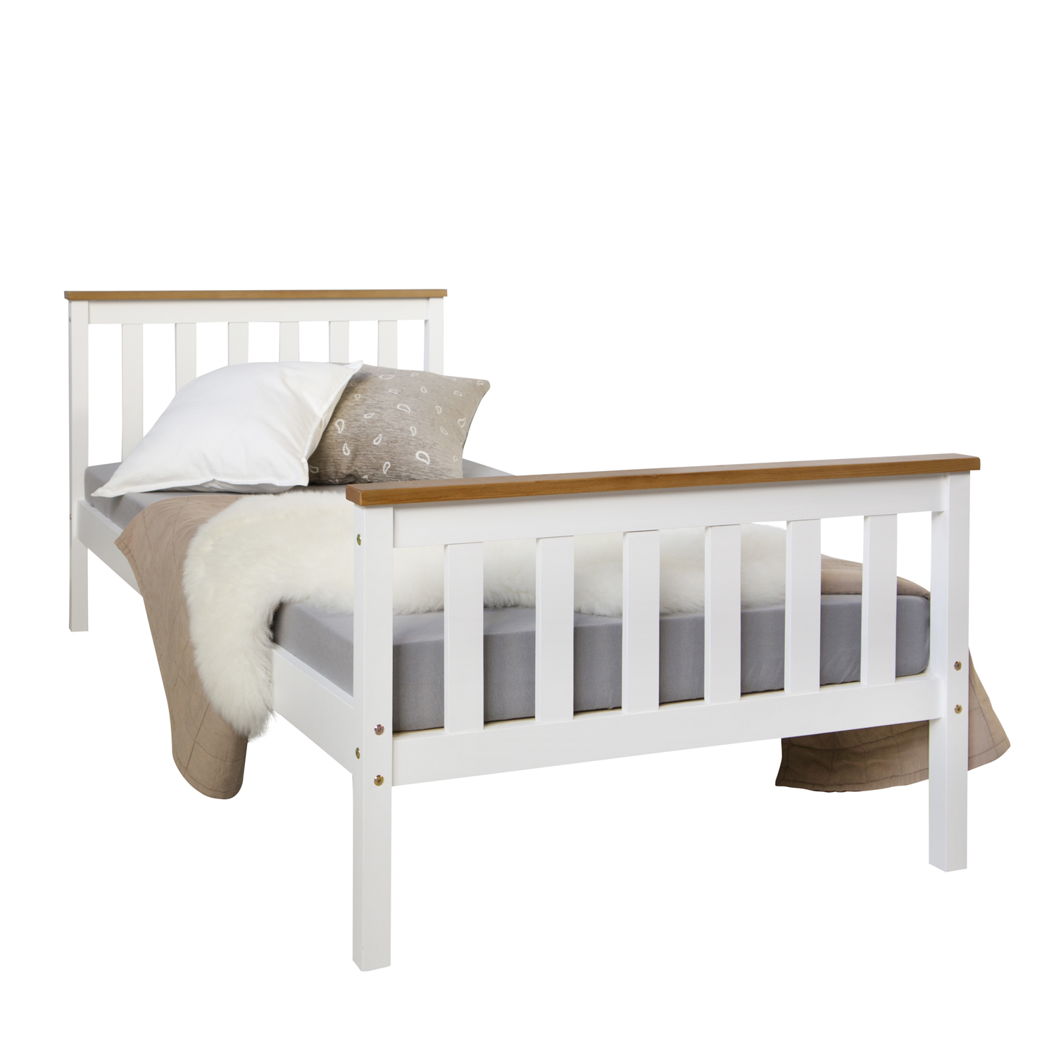 jugendbett kinderbett einzelbett bettgestell 90x200 wei bett tagesbett holzbett ebay. Black Bedroom Furniture Sets. Home Design Ideas