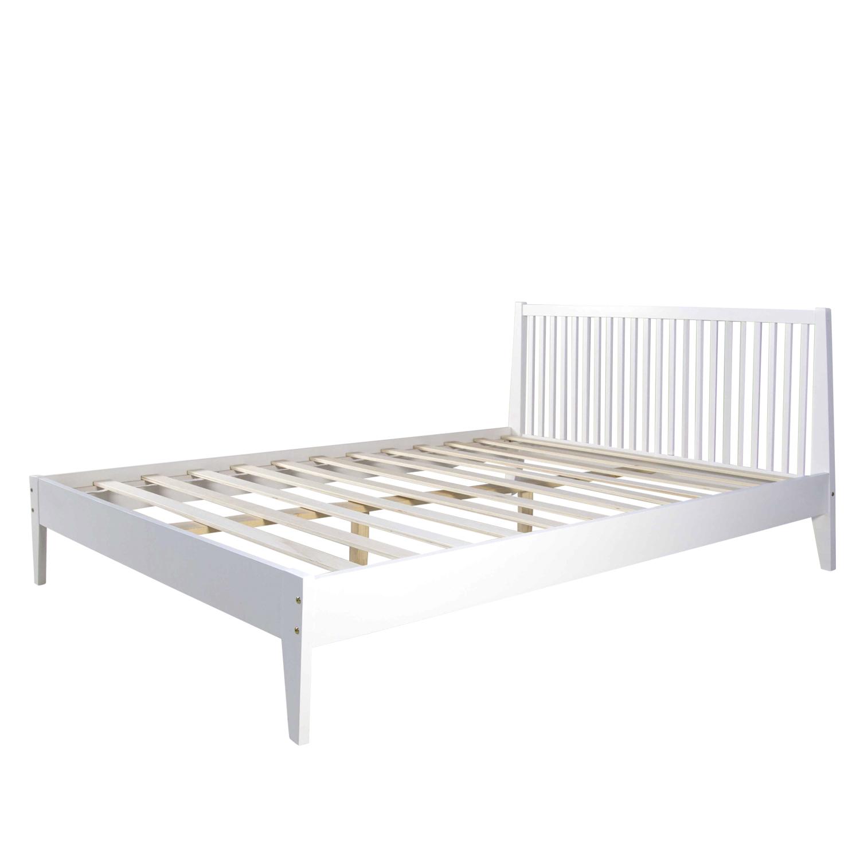 doppelbett holzbett bettgestell futonbett 140x200 wei kiefer bett massivholz ebay. Black Bedroom Furniture Sets. Home Design Ideas