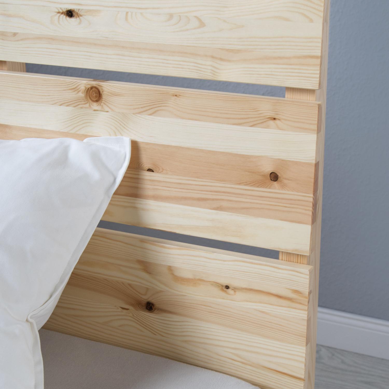 doppelbett holzbett bettgestell futonbett 140x200 holz kiefer bett massivholz ebay. Black Bedroom Furniture Sets. Home Design Ideas