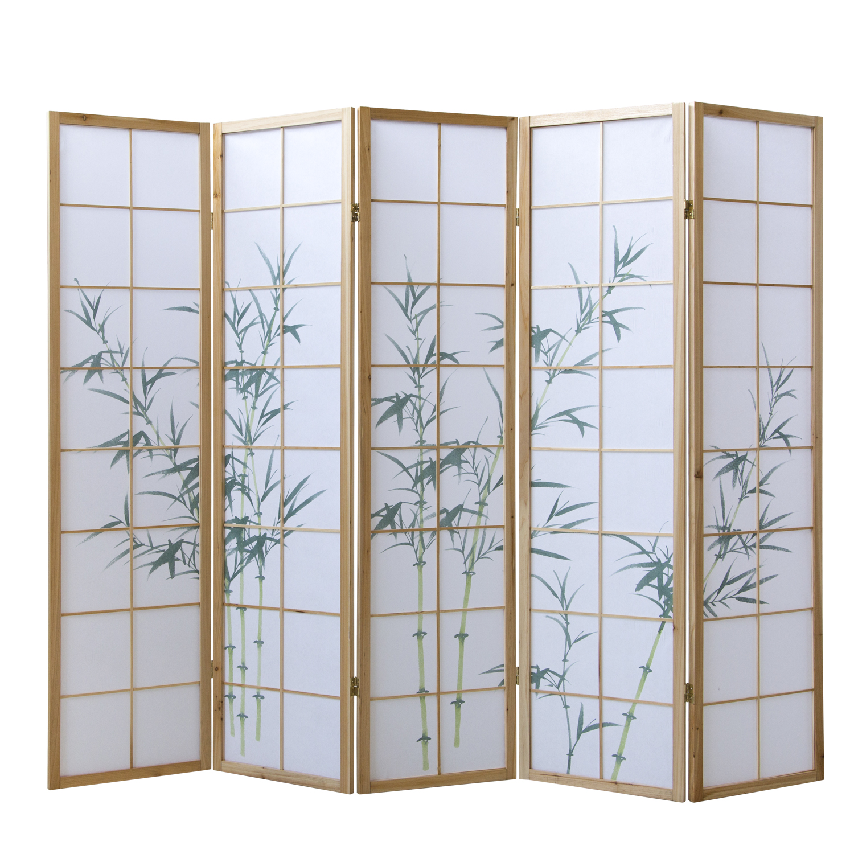 Paravent Raumteiler Trennwand Sichtschutz Spanische Wand Bambus