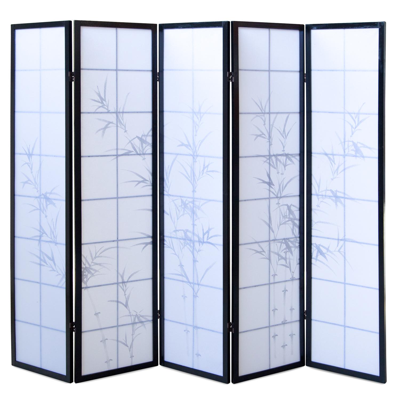 4 tlg Paravent Raumteiler Trennwand Spanische Wand Reispapier Bambus Homestyle4u