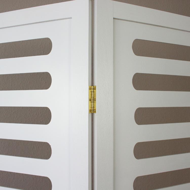 3 fois Paravent séparateur de pièce bois cloison blanc Portemanteau serviette support