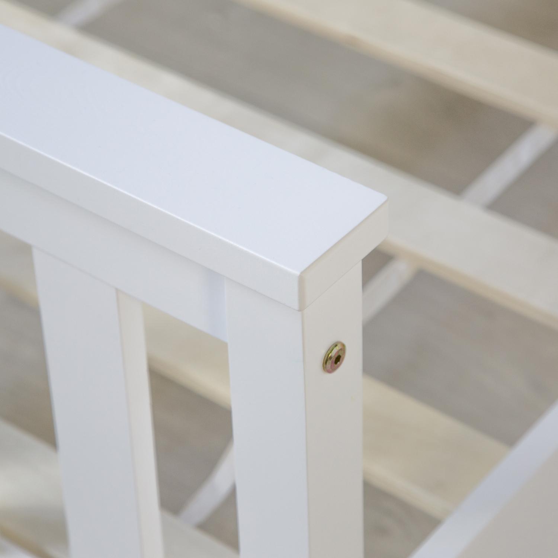 doppelbett holzbett bett bettgestell 140x200 wei kiefer massivholz futonbett ebay. Black Bedroom Furniture Sets. Home Design Ideas