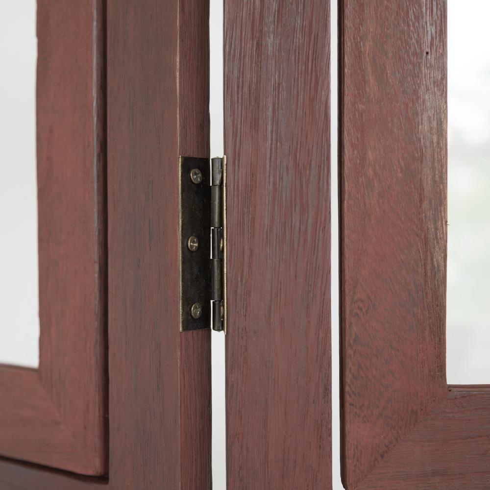 3 Fach Paravent Raumteiler Holz Trennwand Braun Foto Fotowand